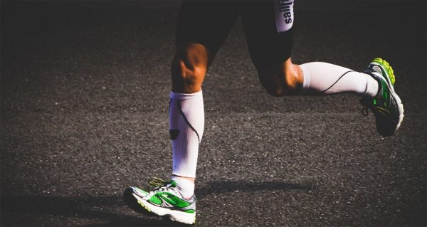 Cep compression stockings worn while jogging