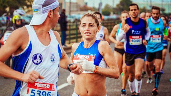 Runners in the marathon