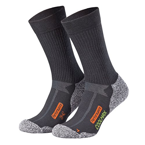 8 Paar Trekking-Socken Funktions-Sportsocken COOLMAX®  Schwarz Marine Gr.47-50