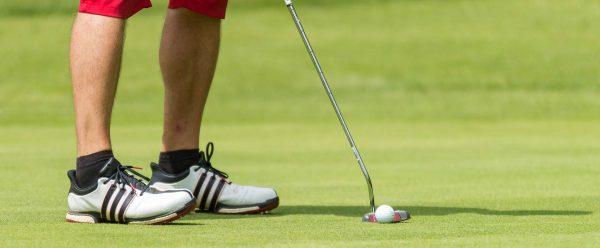 Golfistas con calcetines a juego