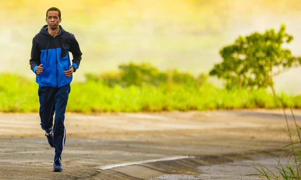 Läufer auf der Straße